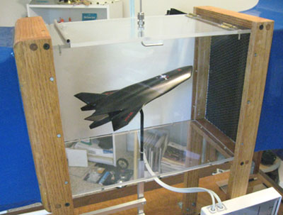 HTV-3X in the subsonic wind tunnel