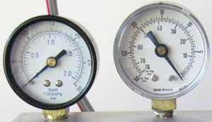 Total and static pressure gages